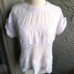 Piperlime Cream Lace Blouse